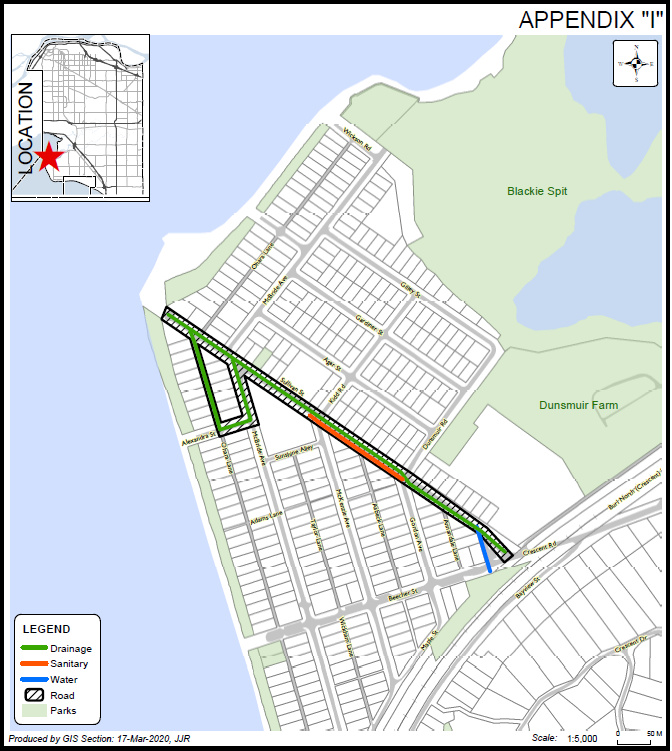 Crescent Beach Map of Construction