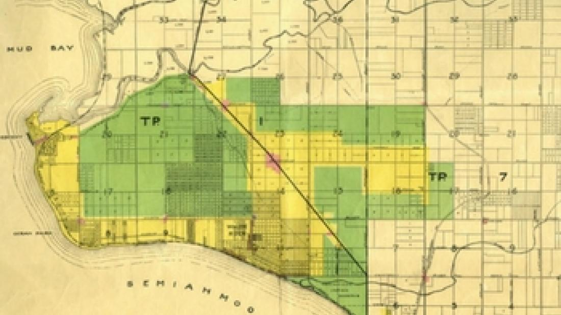 Southern Half of the 1923 Zoning Map