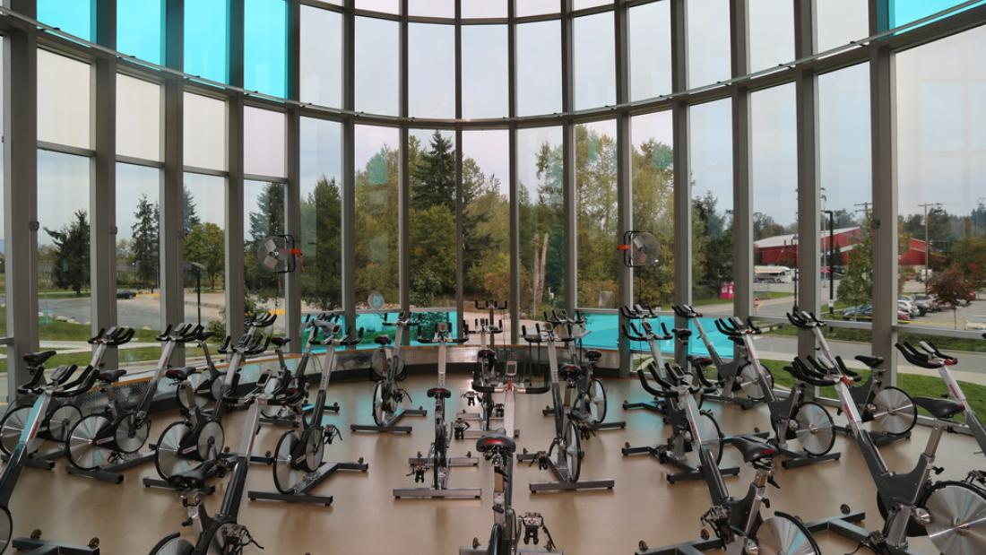 Spin Bikes in Cloverdale Recreation Centre