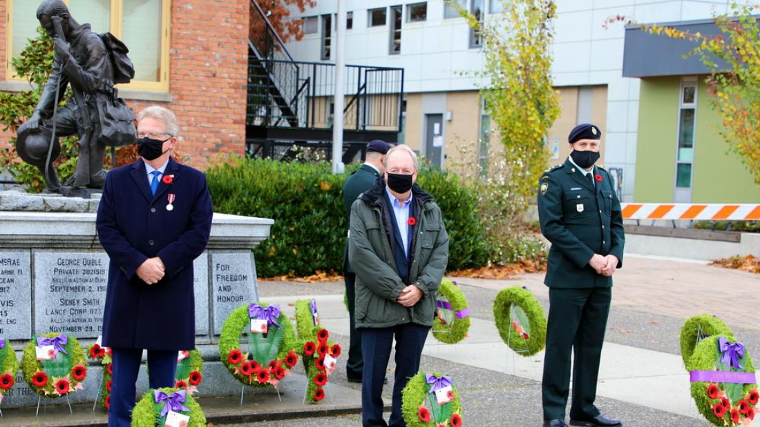 Mayor McCallum at a Remembrance Day event