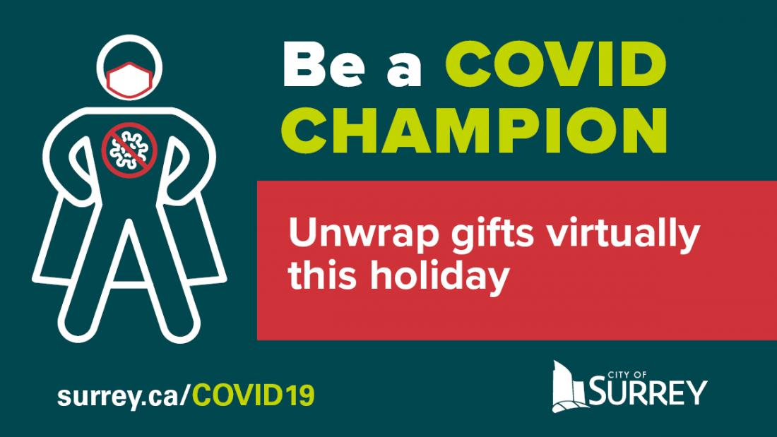 Unwrap gifts virtually message graphic
