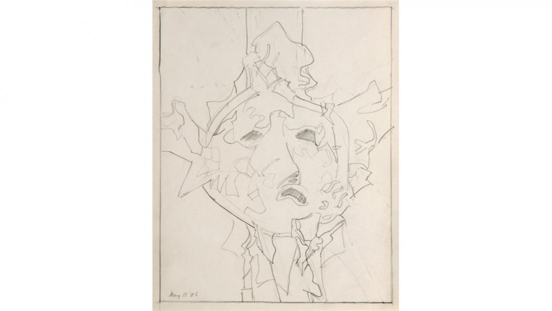 Jack Shadbolt, Untitled, 1986, drawing: graphite on paper. Surrey Art Gallery permanent collection. Photo by SITE Photography.