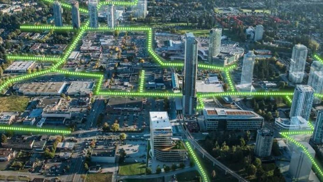 Surrey City Centre with Overlay