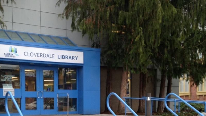 exterior of the Cloverdale Library