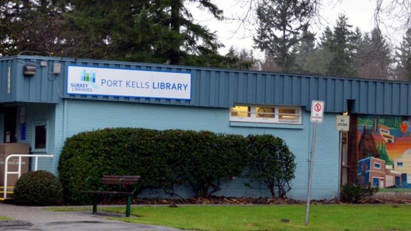 exterior of Port Kells Library in Surrey