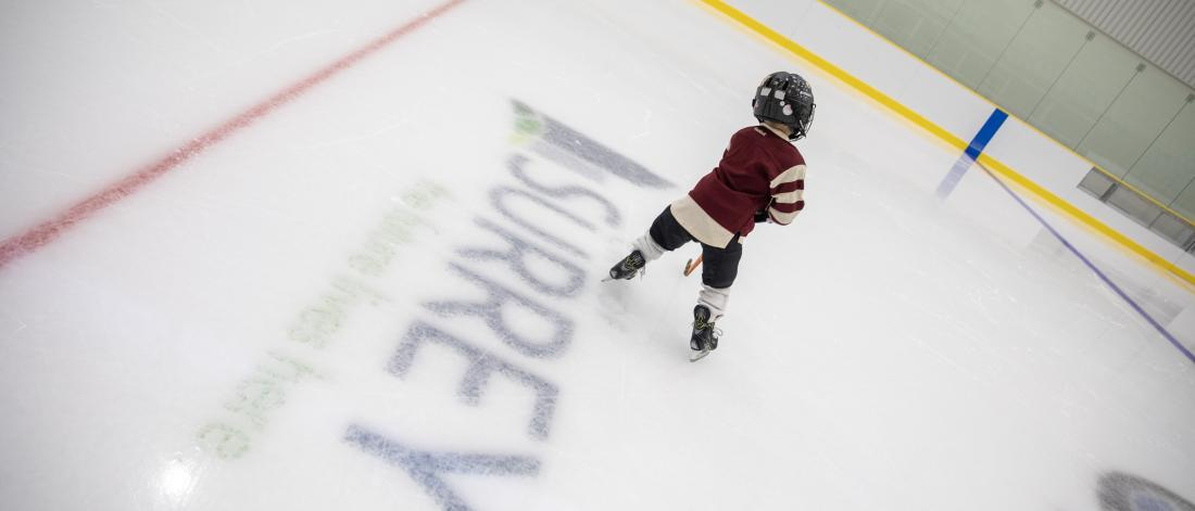 A boy skating at North Surrey Sport & Ice Complex