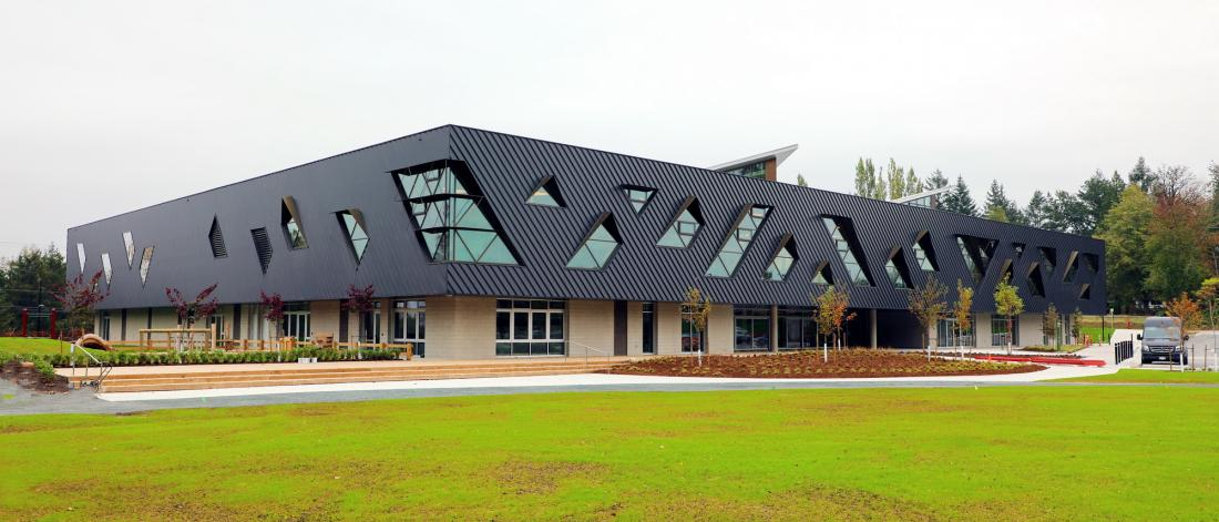 Exterior of Clayton Community Centre, built in 2020