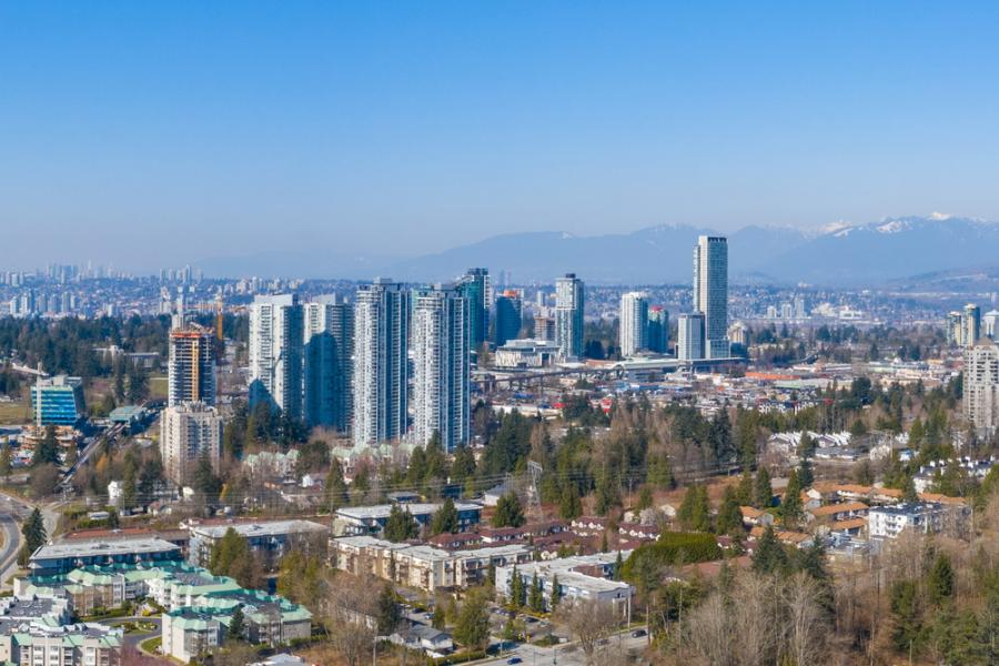 Surrey's emerging downtown towers