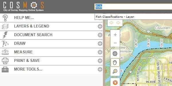 COSMOS Mapping Tool Dashboard View