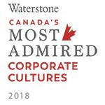Waterstone Canada's Most Admired Corporate Cultures 2018