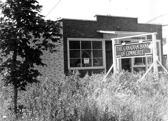 1945 image of The Canadian Bank of Commerce building in Newton.