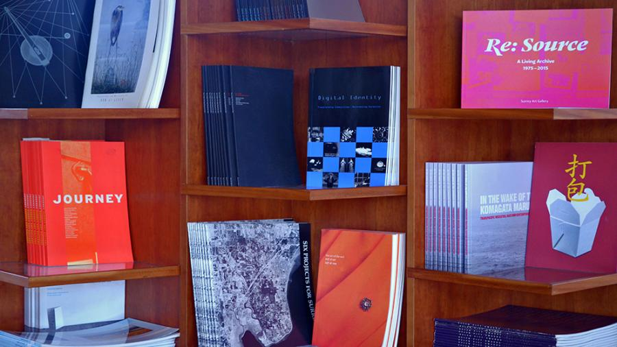 Exhibition Catalogues on display
